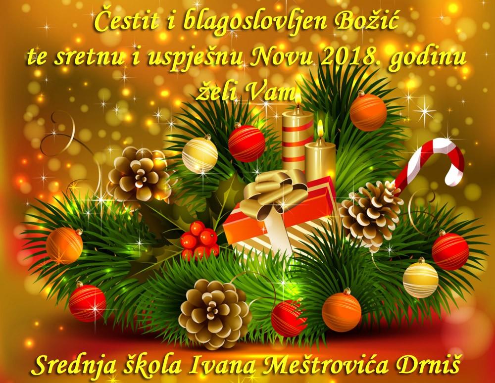 prigodne čestitke za božić novu godinu Čestitke   Srednja škola Ivana Meštrovića   Drniš prigodne čestitke za božić novu godinu
